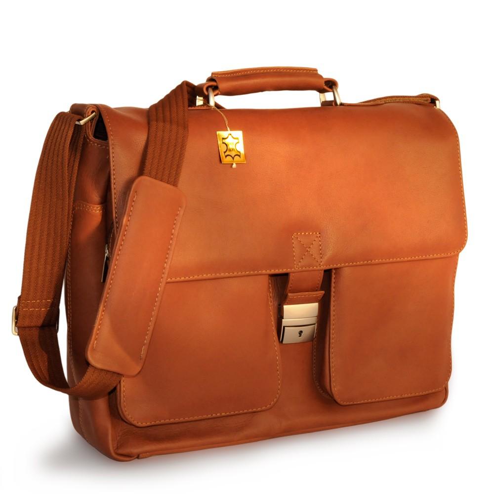jahn tasche elegante aktentasche laptoptasche 15 6 leder cognac braun 750 ebay. Black Bedroom Furniture Sets. Home Design Ideas