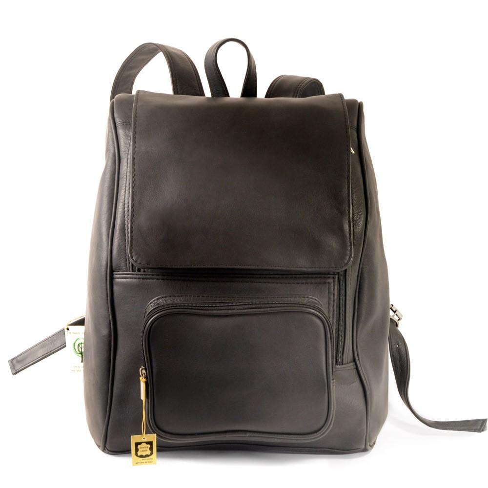 gro er rucksack laptop rucksack 711 leder schwarz. Black Bedroom Furniture Sets. Home Design Ideas