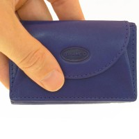 Branco – Small wallet / coin purse size XS, made out of leather, royal blue, model 105