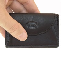 Branco – Small wallet / coin purse size XS, made out of leather, black, model 105