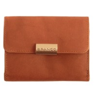 Branco - Leather Purse, Ladies Wallet, Coin Purse Small Wallet, Model-12032 Brown
