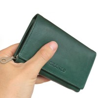 Branco - Leather Ladies Wallet, Coin Purse, Wallet Women, Model-265 Green