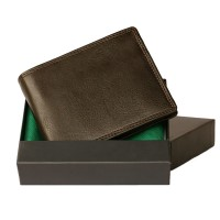 Hamosons - Leather Wallet, Bifold for men, Model-107 Brown