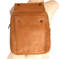 Branco – Elegant leather backpack size M / laptop backpack up to 14 inches, cognac brown, model br171