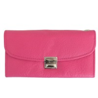 Hamosons – Professional waiter's wallet / waiter's purse made out of Nappa leather, pink, model 1015