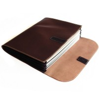 Jahn-Tasche – A4 document case / document holder made out of leather, brown, model 1040