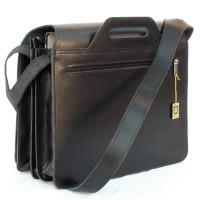 Jahn-Tasche – Large briefcase / teacher bag size XL made out of leather, black, model 676
