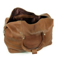 Jahn-Tasche – Large travel bag / weekend bag size L made out of nappa leather, cognac brown, model 697