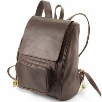 Jahn-Tasche – Large leather backpack size L / laptop backpack up to 15.6 inches, brown, model 711