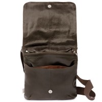 Jahn-Tasche – Shoulder bag size M / handbag made out of Nappa leather with padded compartment for tablets, brown, model 428