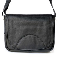 Hamosons – Small women's handbag size XS / retro style shoulder bag made out of Nappa leather, black, model 575