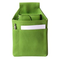 Hamosons – Professional waiter's holster / waiter's belt bag made out of Nappa leather, spring green, model 1009