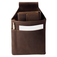 Hamosons – Professional waiter's holster / vintage-look waiter's belt bag made out of leather, brown, model 1009