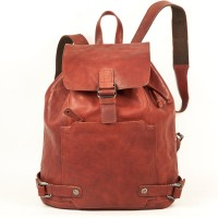 Harold's – Elegant Leather Backpack / Daypack size M, Russet, Model 223902