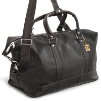 Jahn-Tasche – Small travel bag / weekend bag size S made out of nappa leather, black, model 698