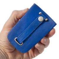 Branco - Key Wallet, Leather Key Case, Key Purse, Model-013 Blue