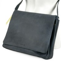 Harolds – Medium-Sized Leather Shoulderbag / Handbag, Midnight Blue, Modell 310403