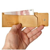 Branco – Very small wallet / coin purse size XS, made out of leather, natural beige, model 103