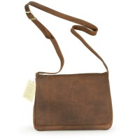 Harolds – Leather Shoulderbag / Handbag, Natural Brown, Modell 310303
