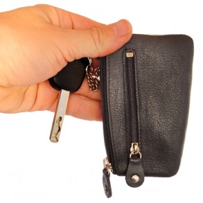 Branco - Key Wallet, Key Purse, Leather Key Case, Model-029 Black