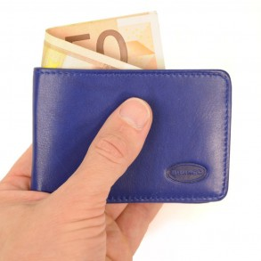 Branco – Small wallet / coin purse size XS, made out of leather, royal blue, model 12022