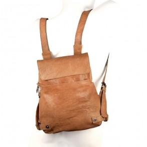 damen handtaschen rucksack 223702 leder camel braun. Black Bedroom Furniture Sets. Home Design Ideas