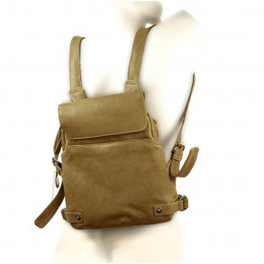 Harold's – Small Leather Rucksack / Daypack size S, Khaki Green, Model 2230702