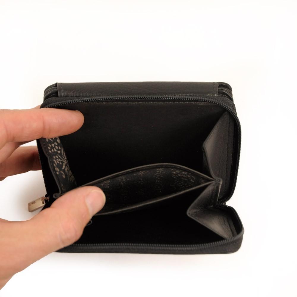 branco leder geldb rse damen portmonee brieftasche geldbeutel modell 29742 schwarz portmonees. Black Bedroom Furniture Sets. Home Design Ideas