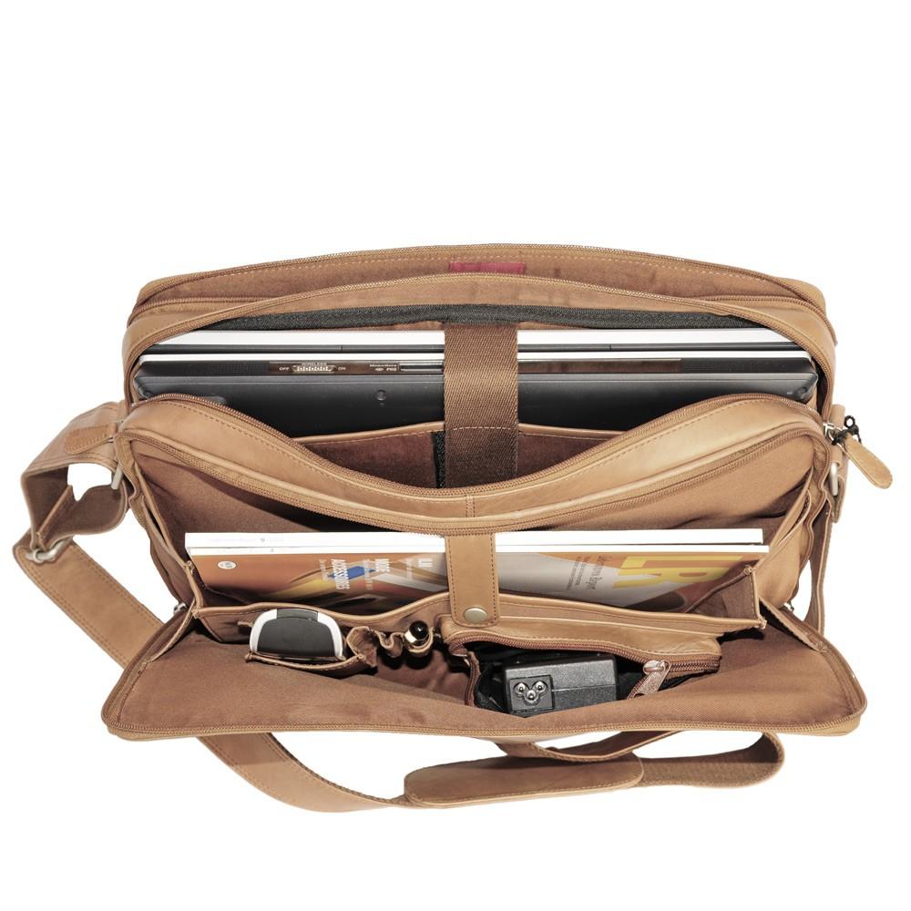 elegante laptoptasche br170 gr e l leder cognac. Black Bedroom Furniture Sets. Home Design Ideas