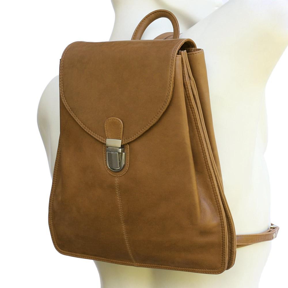 Kleiner Lederrucksack / Rucksack Handtasche aus Leder, Cognac-Braun, Modell br96