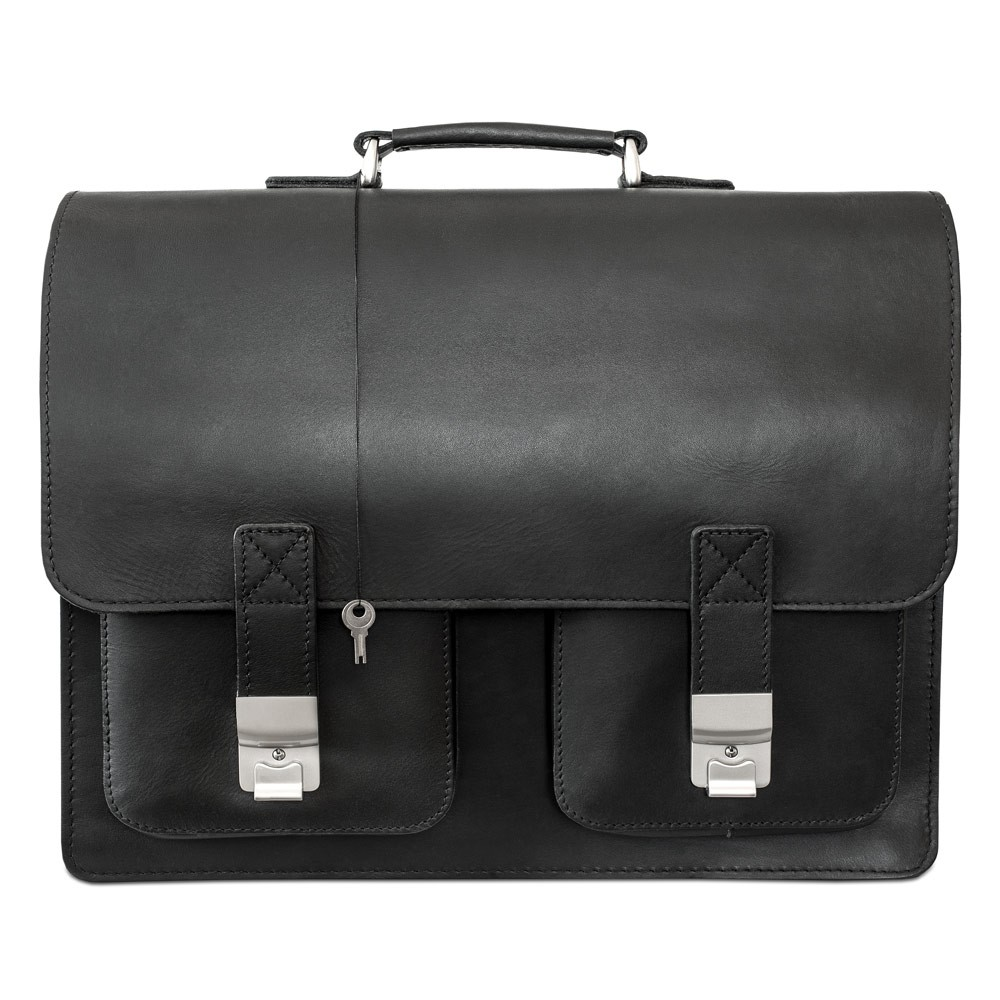 gro e aktentasche lehrertasche xl 690 leder schwarz. Black Bedroom Furniture Sets. Home Design Ideas