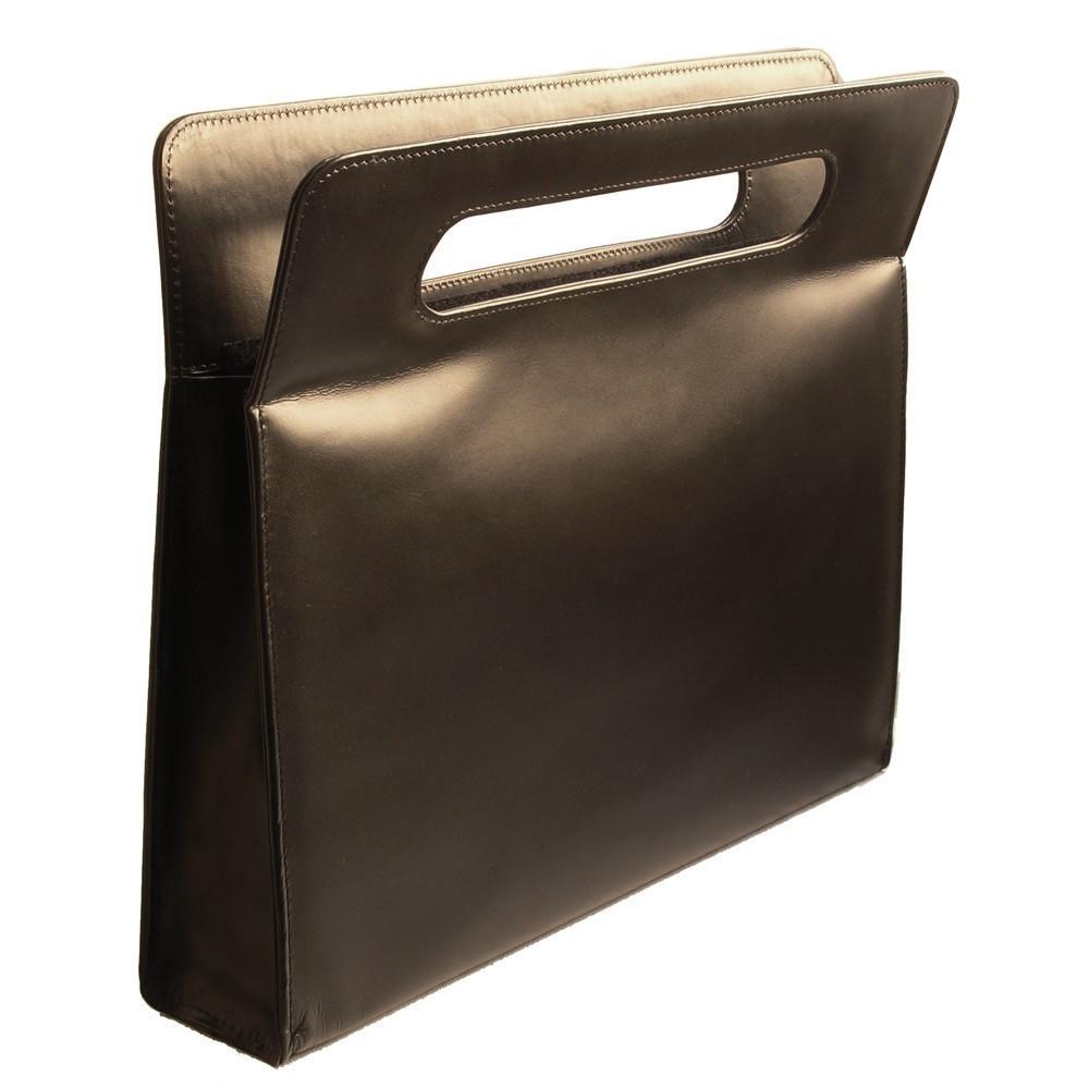luxus aktentasche handtasche f damen leder schwarz. Black Bedroom Furniture Sets. Home Design Ideas