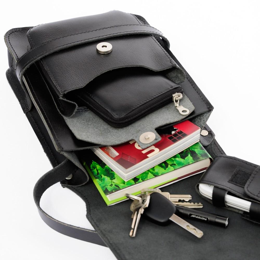 herren handtasche 684 a5 hochformat leder schwarz. Black Bedroom Furniture Sets. Home Design Ideas
