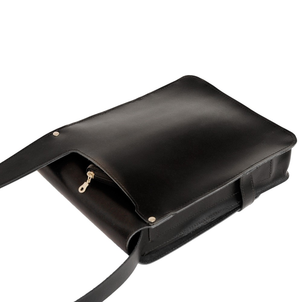 herren handtasche 685 a4 hochformat leder schwarz. Black Bedroom Furniture Sets. Home Design Ideas