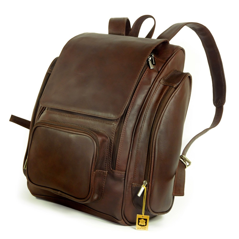 jahn tasche very large leather backpack size xl laptop. Black Bedroom Furniture Sets. Home Design Ideas