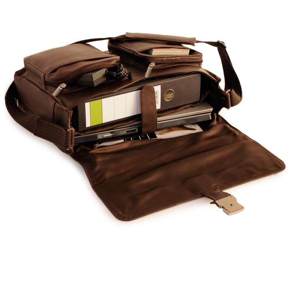 jahn tasche leder aktentasche laptoptasche collegetasche modell 750 braun aktentaschen. Black Bedroom Furniture Sets. Home Design Ideas