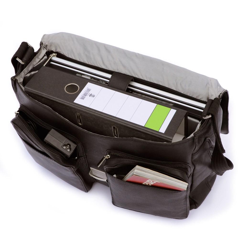elegante aktentasche laptoptasche 750 leder schwarz. Black Bedroom Furniture Sets. Home Design Ideas