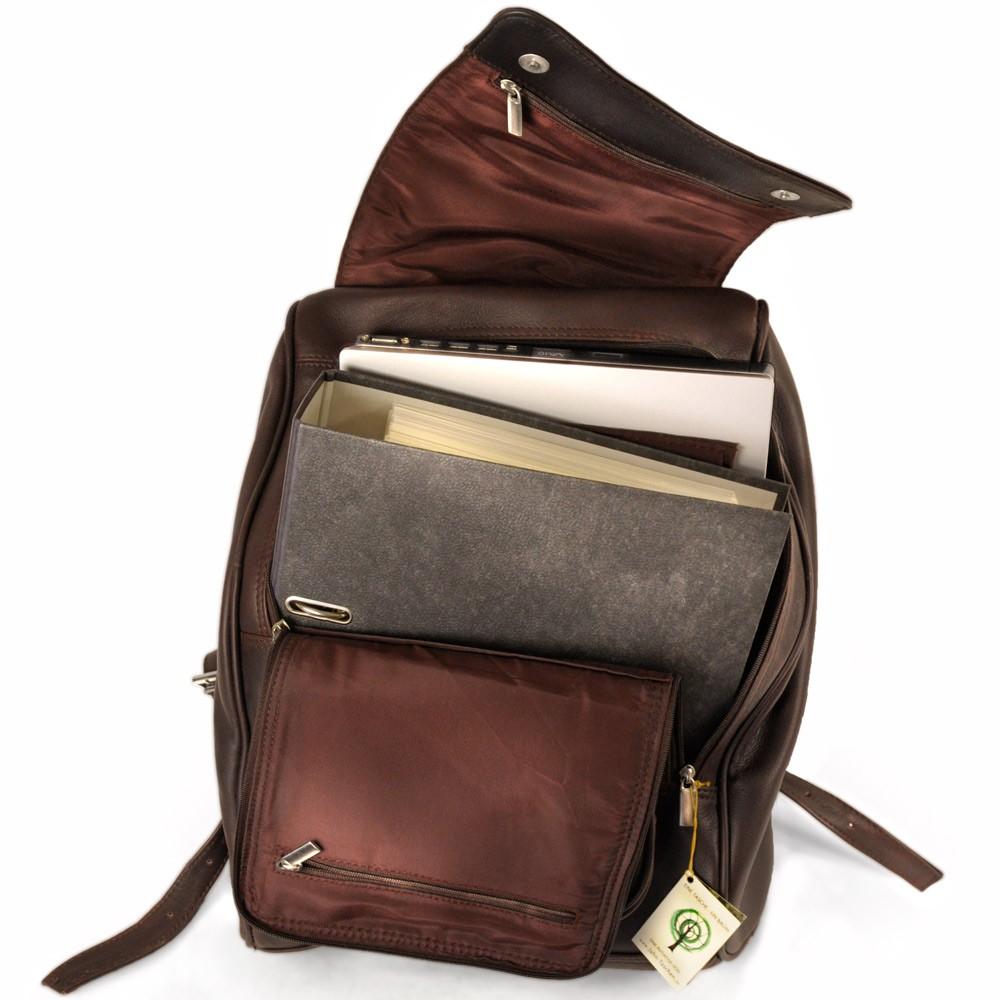 gro er rucksack laptop rucksack 711 leder braun. Black Bedroom Furniture Sets. Home Design Ideas