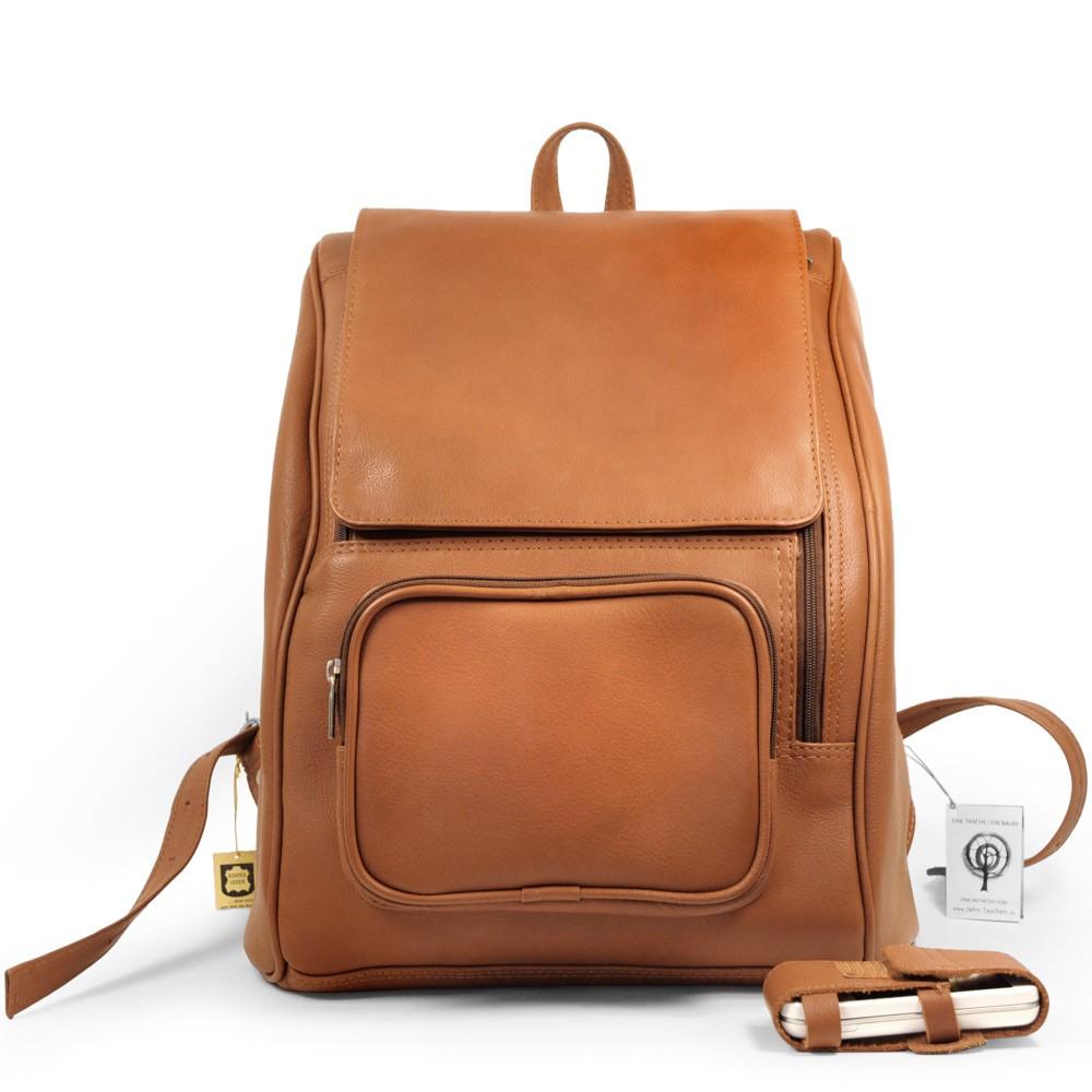 gro er rucksack laptop rucksack 711 leder cognac. Black Bedroom Furniture Sets. Home Design Ideas