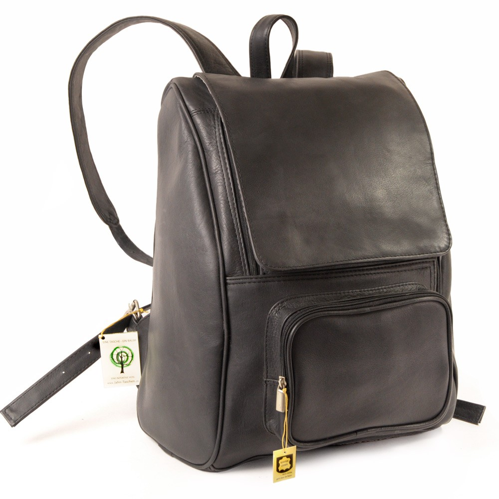 gro er rucksack laptop rucksack 711 leder schwarz. Black Bedroom Furniture Sets. Home Design Ideas