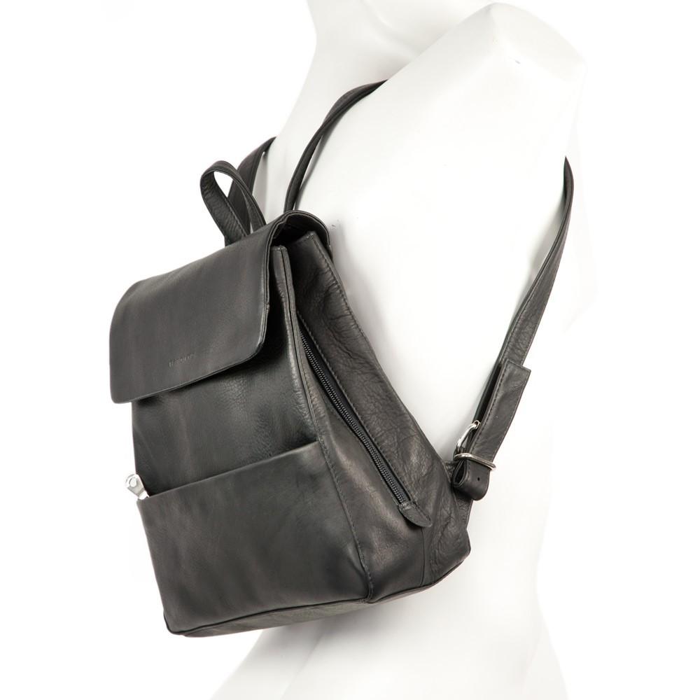 schicker damen handtaschen rucksack leder schwarz. Black Bedroom Furniture Sets. Home Design Ideas