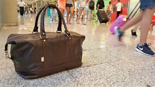 Reisetasche am Airport