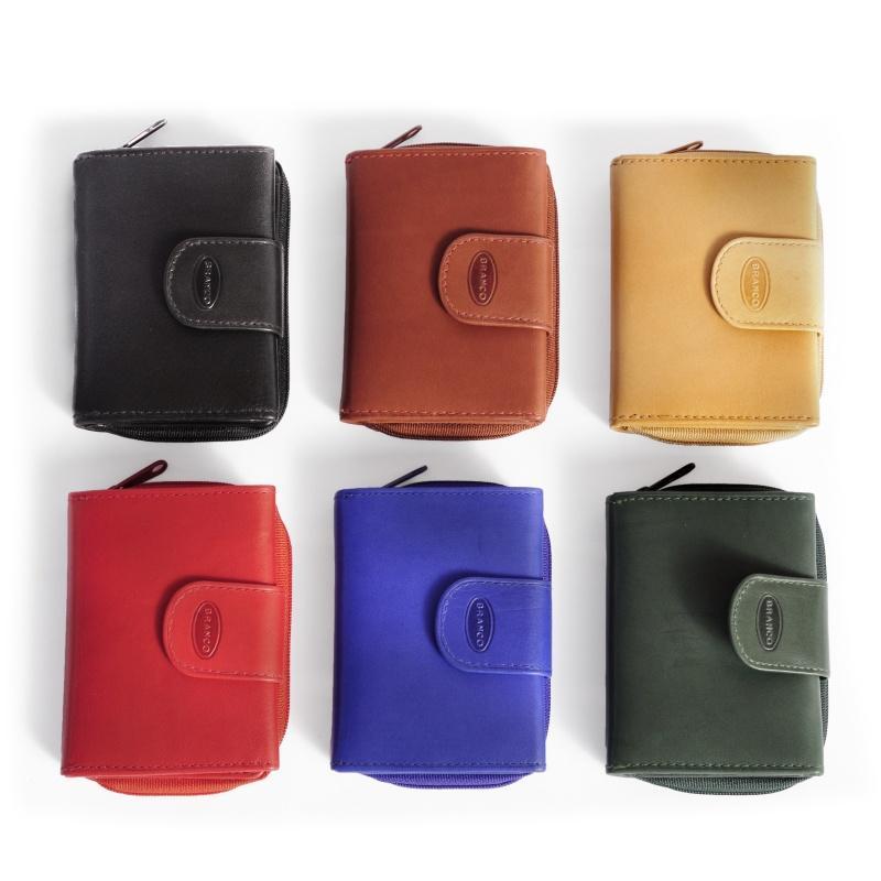 Branco Portmones in verschiedenen Farben.