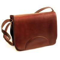 Handtasche aus geöltem, transparent gefärbtem Rindsleder.